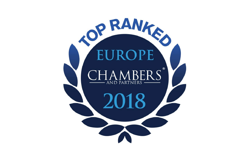 Chambers Europe 2018 gives Band 1 Ranking to Adriala as a Leading Law Firm Network in Europe