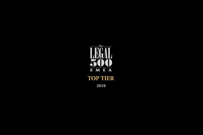 BOPA | Bojanović & Partners once again highly ranked across numerous practice areas by Legal 500 (2018 Edition)